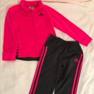 Girls Adidas Tracksuit Sz 4T